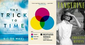 The Trick to Time by Kit De Waal; Restless Souls by Dan Sheehanl Tangerine by Christine Mangan
