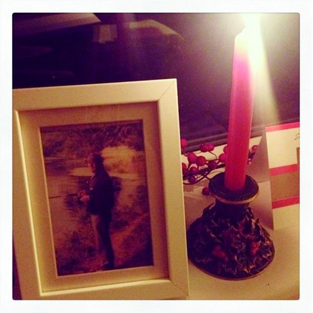 """My dad would always light a candle in the window on Christmas Eve to guide the lost souls home."" – Emer McLysaght"
