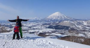 "Brian Gaynor enjoying the snow in in Hokkaido, ""Japan's Alaska""."