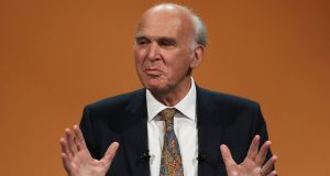 Liberal Democrats leader Sir Vince Cable says real ambiguity remains around the Irish Border question in the Brexit negotiations. Photograph: Andrew Matthews/PA Wire