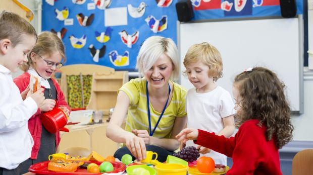 A play-based approach to learning, common in preschool, is likely to emerge in a revised primary curriculum. Photograph: iStock