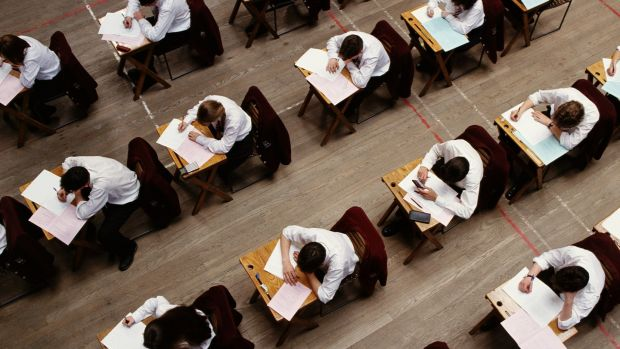 Leaving Cert students completing their exams. Reform of the senior cycle is set to come centre-stage this year