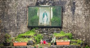 An altar at the Tuam babies burial ground: Examination of bones should  be able to detect trauma and tell whether it occurred before or after death. Photograph: Barry Cronin