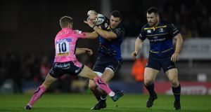 "Exeter's Gareth Steenson  takes on   Robbie Henshaw   and Cian Healy  of Leinster  at Sandy Park  last week: ""This week it will be a different approach from Exeter,"" Henshaw says. ""They're coming to play"". Photograph:  Stu Forster/Getty"