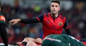 Conor Murray running the game against  Leicester in Thomond Park. Photograph: Dan Sheridan/INPHO