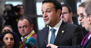 Speaking in Brussels, Taoiseach Leo Varadkar  said he would wait to hear the views of Fine Gael in the new year before the Government decided on a course of action. Photograph: Emmanuel Dunand/AFP/Getty Images