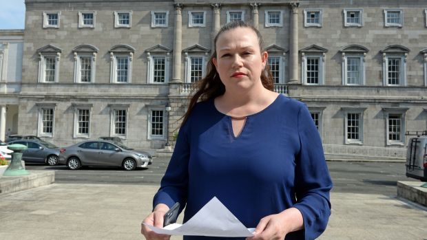Louise O'Reilly, who is the Sinn Féin health spokeswoman, insisted its members were galvanised and ready to fight the referendum campaign. Photograph: Eric Luke