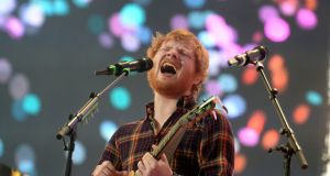 "Ed Sheeran said receiving a MBE was a ""big deal"" for him and his father. Photograph: Cyril Byrne/The Irish Times"
