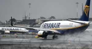 Ryanair aircraft at   Rome's Ciampino airport. Photograph: AFP/Getty Images