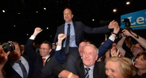 Immediately after the leadership contest was called, a raft of senior Ministers came out backing Leo Varadkar. Photograph: Alan Betson