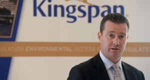 Kingspan chief executive Gene Murtagh, who announced three new purchases by the group in Spain, Poland and the Netherlands. Photograph: Cyril Byrne
