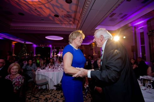 Jessica Harrington (overall winner) and Ronnie Delaney share a few words at Friday's awards ceremony. Photograph: Tom Honan/Irish Times