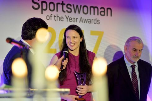 Paula Fitzpatrick, (Rugby) winner of the February award. Photograph: Alan Betson/The Irish Times