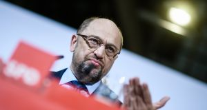 Martin Schulz: change of heart was backed by delegates at an SPD party congress earlier this month. Photograph: Clemens Bilan/EPA