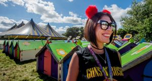 Jerly Vivas from Venezuela at Electric Picnic in Stradbally Co.Laois. Photograph: Brenda Fitzsimons