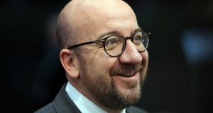 "Prime minister of Belgium Charles Michel: ""Solidarity cannot be unilaterally applied."" Photograph: Dan Kitwood/Getty"