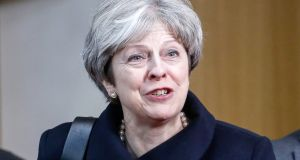 "UK  prime minister Theresa May:  ""There's still more to do but we're well on the road to delivering the Brexit that will make Britain prosperous, strong and secure."" Photograph: Dario Pignatelli/Bloomberg"