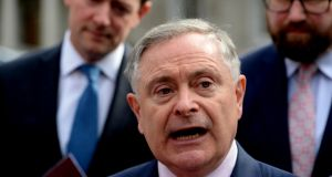 Labour leader Brendan Howlin said his party would  campaign in a respectful and dignified fashion to repeal the Eighth Amendment. Photograph: Cyril Byrne