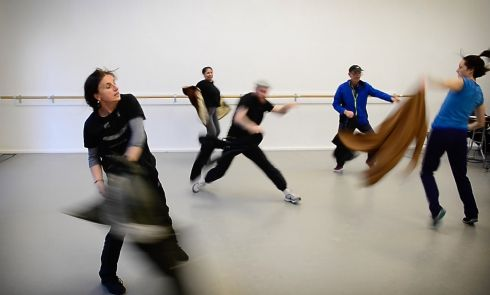 DANCE STEPS Simon Community dance group, which includes homeless people, Simon volunteers and professional dancers, rehearse for their three-night run at the Lir theatre, in Dublin, which ends on Saturday. The project aims to improve creativity, self-esteem, mental health and quality of life, and help end the stigma of homelessness. Photograph: Bryan O'Brien