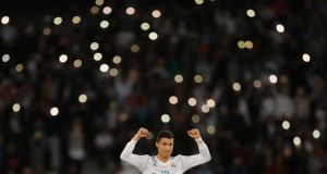 Cristiano Ronaldo's free kick gave Real Madrid a 1-0 win over Gremio. Photograph: Amr Abdallah Dalsh/Reuters
