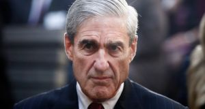 Robert Mueller: Many of the emails his investigators have now include national security discussions about possible Trump international aims. File photograph: Charles Dharapak/AP