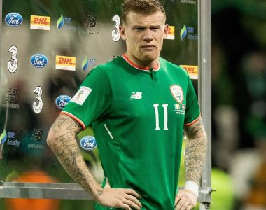 Republic of Ireland midfielder James McClean won the main award at the RTÉ Sport Awards on Saturday night. Photograph: Morgan Treacy/Inpho