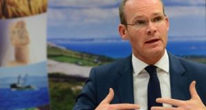 Simon Coveney said it was  responsibility of Arlene Foster and  Michelle O'Neill to form a Government in Northern Ireland.  Photograph: Dara Mac Dónaill/The Irish Times