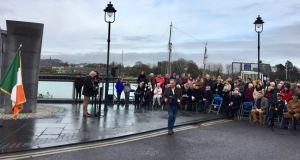 A number of events were held in Waterford to mark the centenary of a shipping disaster in 1917. Photograph: Robin Barnett/Twitter