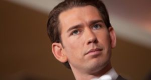 Austrian conservative Sebastian Kurz (31) feels he has a mandate for change in a continent destabilised by politicians twice his age. Photograph: Alex Halada/AFP/Getty Images