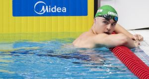 Ireland's Conor Ferguson almost made it to the final of the 50m backstroke at the European Short Course Swimming Championships. Photo: Andrea Staccioli/Inpho