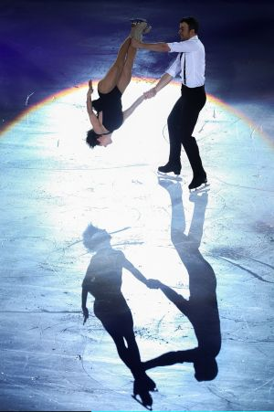 ICE COOL: Meagan Duhamel and Eric Radford of Canada perform during the Stars On Ice 2017 China Tour at Beijing Capital Gymnasium,China.  Photograph: Lintao Zhang/Getty Images