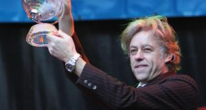 Bob Geldof receives the Freedom of the City of Dublin in 2006. Photograph: Bryan O'Brien