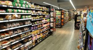 Dunnes Stores has the largest supermarket share in Ireland, data shows. Tesco comes in second place with 22.3 per cent, while Supervalu had 22.2 per cent share. Photograph: Dara Mac Donaill