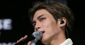 File image of Kim Jong-hyun, lead singer of the popular K-pop group SHINee. File photograph: Yonhap/AFP/Getty Images