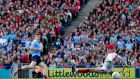 Con O'Callaghan scores Dublin's early goal in the final against Mayo with a nonchalant finish. Photograph: James Crombie/Inpho