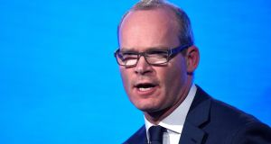 "Simon Coveney: Ulster Unionist Party leader Robin Swann urged him to ""step away from the microphone if he wants to repair relationships with unionists"". Photograph: Clodagh Kilcoyne/Reuters."