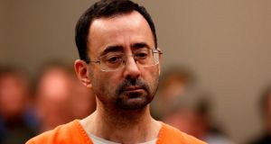 File photo of former Michigan State University and USA Gymnastics doctor Larry Nassar appearing at Ingham County Circuit Court in Lansing, Michigan. Photo: Jeff Kowalsky/Getty Images