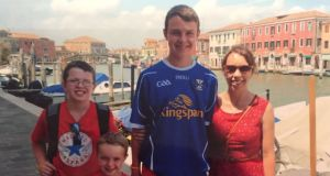 Clodagh Hawe and her sons, from left, Niall, Ryan and Liam. Photograph: Jacqueline Connolly