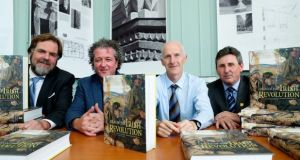Associate editors Dr John Borgonovo, Donal Ó Drisceoil, Mike Murphy and John Crowley launch the 'Atlas of the Irish Revolution' in Dublin. Photograph: Maxwell Photography