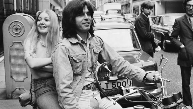 Welsh folk singer Mary Hopkin and record producer Tony Visconti in London, 1971. Photograph: Jack Kay/Daily Express/Getty Images