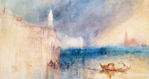 Joseph Mallord William Turner's (1775-1851) Storm at the Mouth of the Grand Canal, Venice, c. 1840, part of the   Good Morning Mr Turner exhibition at the National  Gallery of Ireland which run from January 1st-31st