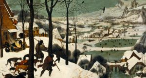 Hunters in the Snow (Winter), Pieter Bruegel the Elder (1565), 162x170cms. Image courtesy of Kunsthistorisches Museum Wien