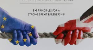 Cover of British Irish Chamber of Commerce document with solutions for trade: the British people voted for Brexit, forgetting that Northern Ireland was part of the UK, or simply not caring what the impact there might be. Photograph: Nick Bradshaw