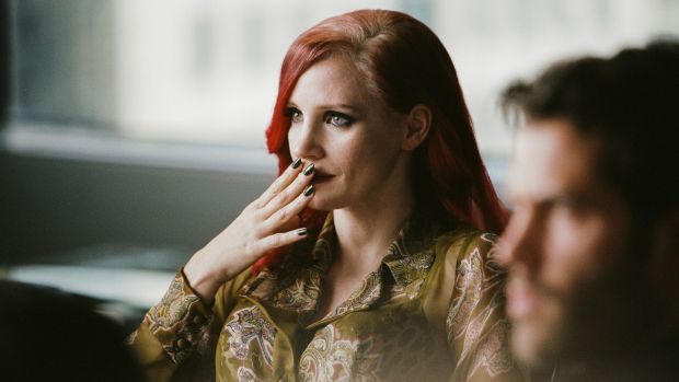 Jessica Chastain on the set of 'The Death and Life of John F Donovan'. Photograph: Shayne Laverdière