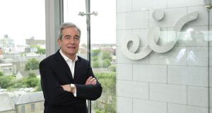 Eir chief executive Richard Moat: exiting the company with a possible multimillion-euro windfall. Photograph: Aidan Crawley
