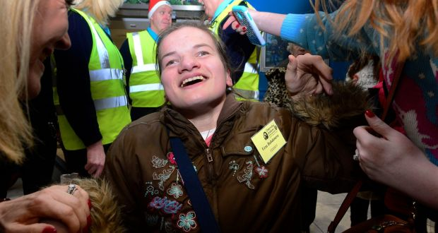 Theyre part of the family chernobyl group arrive for christmas vera bahsdanavaone one of the visitors who arrived at dublin airport on tuesday for a fandeluxe Choice Image