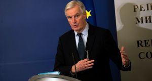 The European Commission's Brexit negotiator Michel Barnier: four pages of new directives were in line with guidelines issued by EU leaders at a summit on Friday. Photograph: Vassil Donev/EPA
