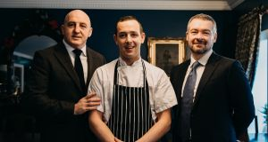 Wood & Bell: new restaurateur Keith Wood with business partner Malcolm Bell and executive chef Paddy Collins.