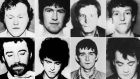 "Handout photos of the eight-man IRA unit killed in  the  Loughgall ambush in May 1987, which  relatives believed  was part of a British ""shoot to kill"" policy. Photograph: PA"