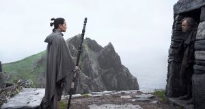 Star Wars on  Skellig Micheal: visits on a permit system are meant to be capped at 11,100 annually  but  increased to 16,000 in 2017. Photographs: Lucasfilm